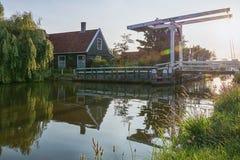 Il vecchio paesino di pescatori Haaldersbroek Fotografia Stock Libera da Diritti