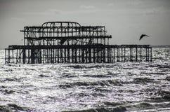 Il vecchio pilastro a Brighton, Inghilterra fotografia stock