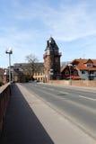 Il vecchio ponte a Bad Kreuznach Immagini Stock