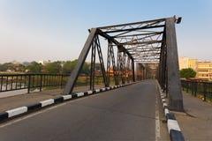 Il vecchio ponte d'acciaio di Chiang Mai Fotografia Stock Libera da Diritti