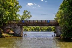 Il vecchio ponte di pietra Fotografia Stock Libera da Diritti
