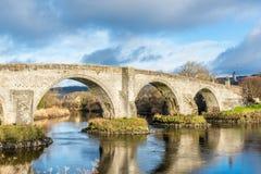Il vecchio ponte medievale Stirling Scotland Fotografie Stock Libere da Diritti