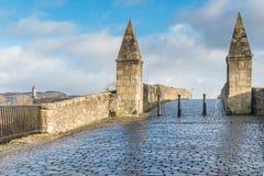 Il vecchio ponte medievale Stirling Scotland Fotografia Stock
