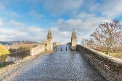 Il vecchio ponte medievale Stirling Scotland Immagini Stock