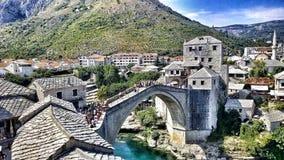 Il vecchio ponte Mostar fotografia stock
