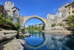 Il vecchio ponticello, Mostar Fotografie Stock Libere da Diritti