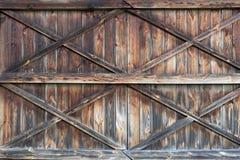 Il vecchio portello di legno Fondo Fotografia Stock