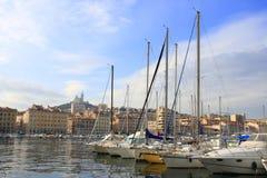 Il vecchio porto di Marsiglia Fotografia Stock