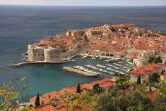 Il vecchio porto a Dubrovnik, Croatia Fotografia Stock Libera da Diritti