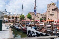Il vecchio porto a Rotterdam Fotografie Stock Libere da Diritti