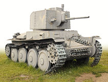 Il vecchio serbatoio tedesco PzKpfw 38 (t) Fotografia Stock Libera da Diritti