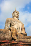 Il vecchio Siam Buddha di Sukhothai fotografia stock libera da diritti