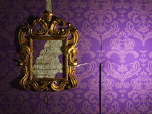 Il vecchio specchio Fotografia Stock