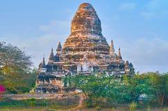 Il vecchio stupa rovinato in Bagan, Myanmar Fotografie Stock