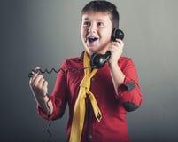 Il vecchio telefono Fotografie Stock Libere da Diritti