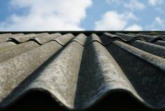 Il vecchio tetto di ardesia Fotografia Stock Libera da Diritti