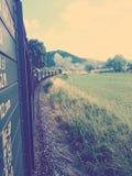 Il vecchio treno Fotografia Stock