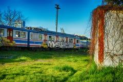 Il vecchio treno Fotografie Stock Libere da Diritti
