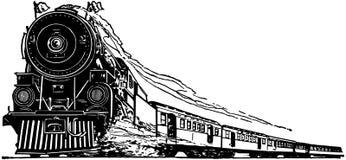 Il vecchio treno del motore a vapore Fotografia Stock Libera da Diritti