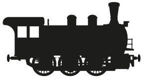 Il vecchio treno del motore a vapore Fotografie Stock