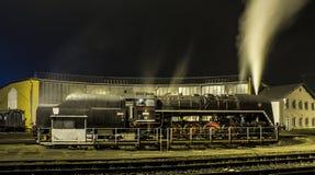 Il vecchio treno del motore a vapore Immagine Stock Libera da Diritti