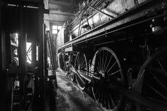 Il vecchio treno del motore a vapore Immagini Stock