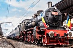 Il vecchio treno del motore a vapore Fotografia Stock