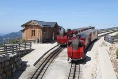 Il vecchio treno del motore a vapore Fotografie Stock Libere da Diritti
