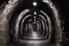 Il vecchio tunnel di base nelle alpi svizzere si avvicina a cattivo Ragaz Fotografia Stock Libera da Diritti