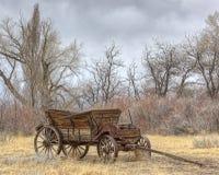 Il vecchio vagone Immagini Stock Libere da Diritti