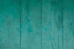 Il vecchio verde sbiadito della menta si imbarca sul lerciume del primo piano Fotografia Stock