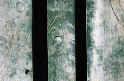 Il vecchio verde sbiadito naturale di legno stagionato ha dipinto il fondo Immagini Stock Libere da Diritti