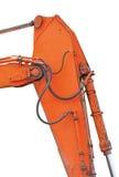 Il vecchio verticale del merlo acquaiolo e dell'asta dell'escavatore ha isolato Fotografia Stock Libera da Diritti
