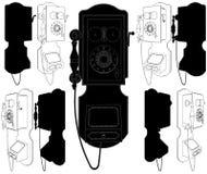 Il vecchio vettore 02 del telefono illustrazione vettoriale