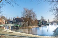 Il vecchio villaggio di Zaan Schans immagini stock libere da diritti