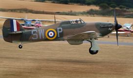 """Il venditore ambulante Hurricane è un aereo da caccia britannico di unico Seat """"gli anni 40 del 1930s†Fotografia Stock Libera da Diritti"""