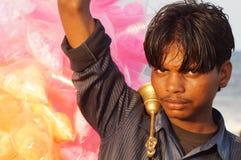 Il venditore dello zucchero filato Fotografie Stock Libere da Diritti