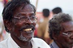Il venditore felice Fotografie Stock Libere da Diritti