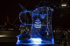 Il ventesimo festival internazionale della scultura di ghiaccio nel Jelgava Lettonia Immagine Stock