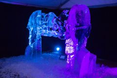 Il ventesimo festival internazionale della scultura di ghiaccio nel Jelgava Lettonia Immagine Stock Libera da Diritti