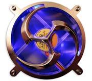 Il ventilatore con illuminazione blu scuro (isolata) immagine stock libera da diritti