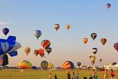 Il ventiseiesimo festival annuale dell'aerostato del New Jersey Immagini Stock