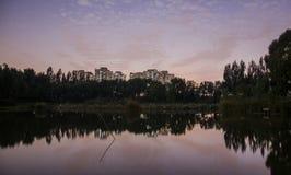 Il vento dopo il tramonto, Pechino Fotografia Stock