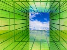 Il verde è il futuro Fotografia Stock