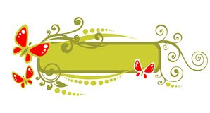 Il verde arriccia il blocco per grafici illustrazione di stock