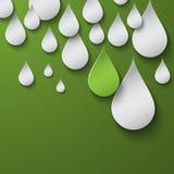 Il verde cade la priorità bassa Fotografia Stock