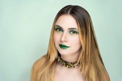 Il verde compone Halloween fotografie stock libere da diritti