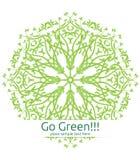 Il verde copre di foglie Mandala Vector Fotografie Stock Libere da Diritti