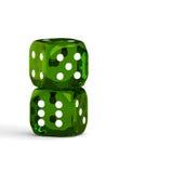 Il verde del gioco taglia isolato su fondo bianco Fotografie Stock