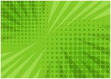 Il verde dell'estratto ha barrato il retro fondo comico illustrazione vettoriale